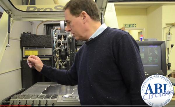 PCB CNC drilling machine at ABL Circuits
