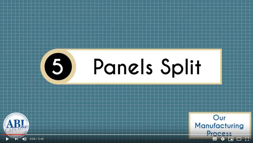 ABL Circuits PCB Manufacture Panels Split