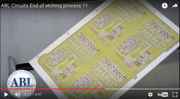 PCB Etching process ABL Circuits pcb manufacture