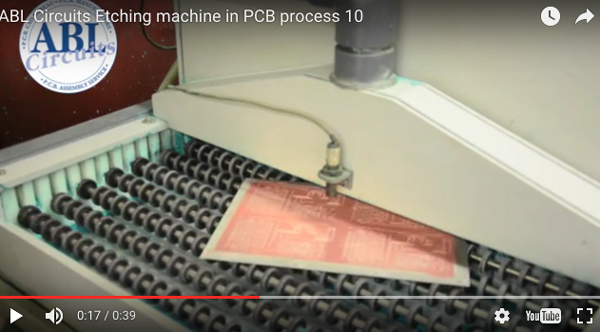 PCB etching machine process ABL Circuits