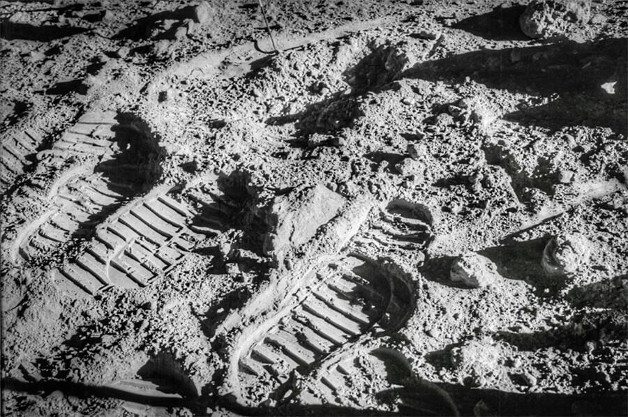 ABL Celebrate Moon Landing. Photo of footprints on the Moon.